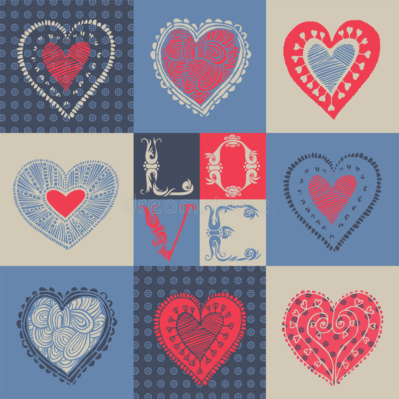 Карточка влюбленности. бесплатная иллюстрация