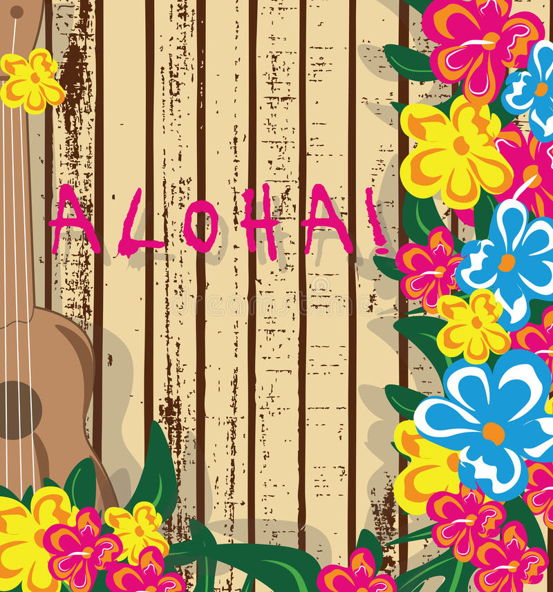 Карточка Гаваи лета бесплатная иллюстрация