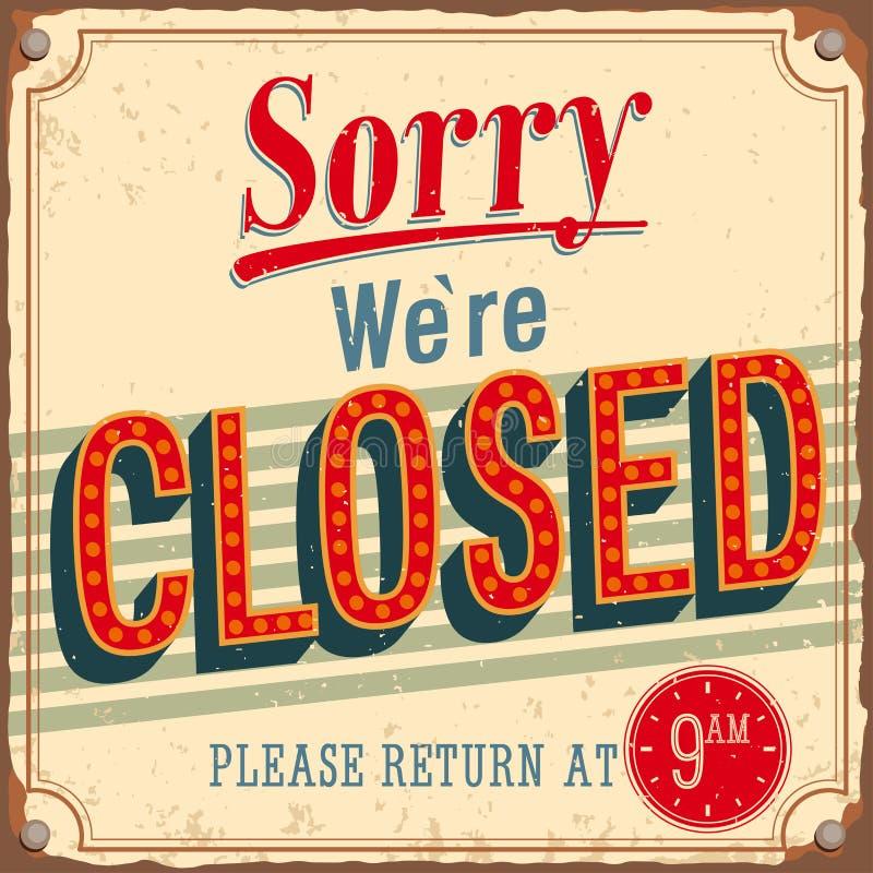 Карточка год сбора винограда - огорченная был закрыт. иллюстрация штока