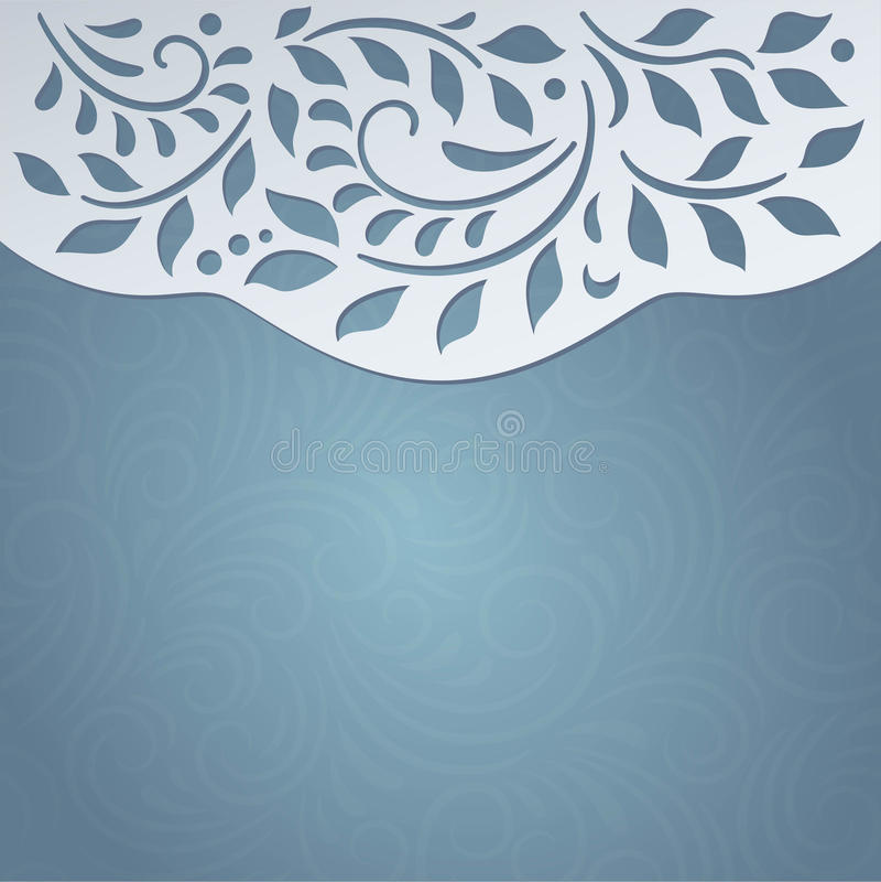 Карточка голубого приглашения милая иллюстрация вектора