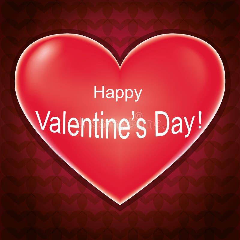 Карточка дня Валентайн, предпосылка влюбленности с сердцем иллюстрация штока