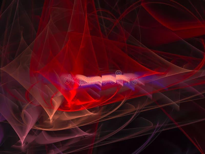 Карточка живая, дизайн энергии абстрактной фрактали динамическая художническая иллюстрация штока