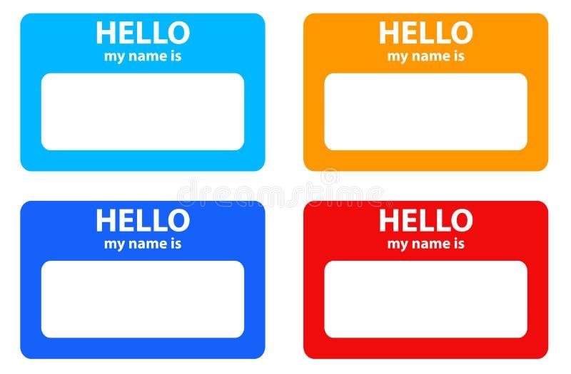 карточка здравствулте! мое имя бесплатная иллюстрация