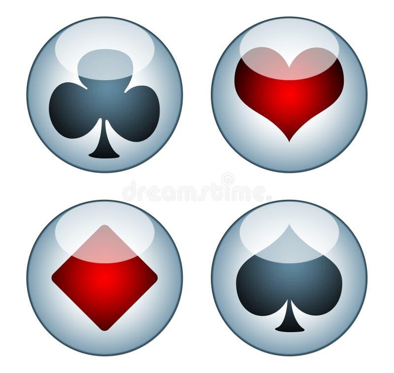 Карточка игры икон для сети иллюстрация вектора