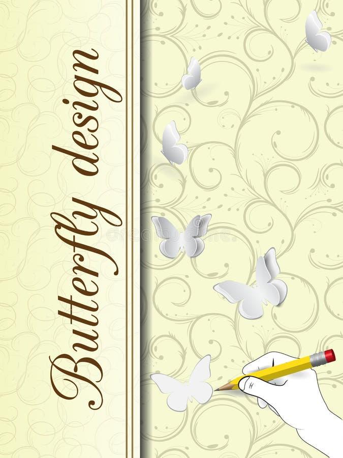 Download Карточка дизайна бабочки иллюстрация вектора. иллюстрации насчитывающей карточка - 41659281