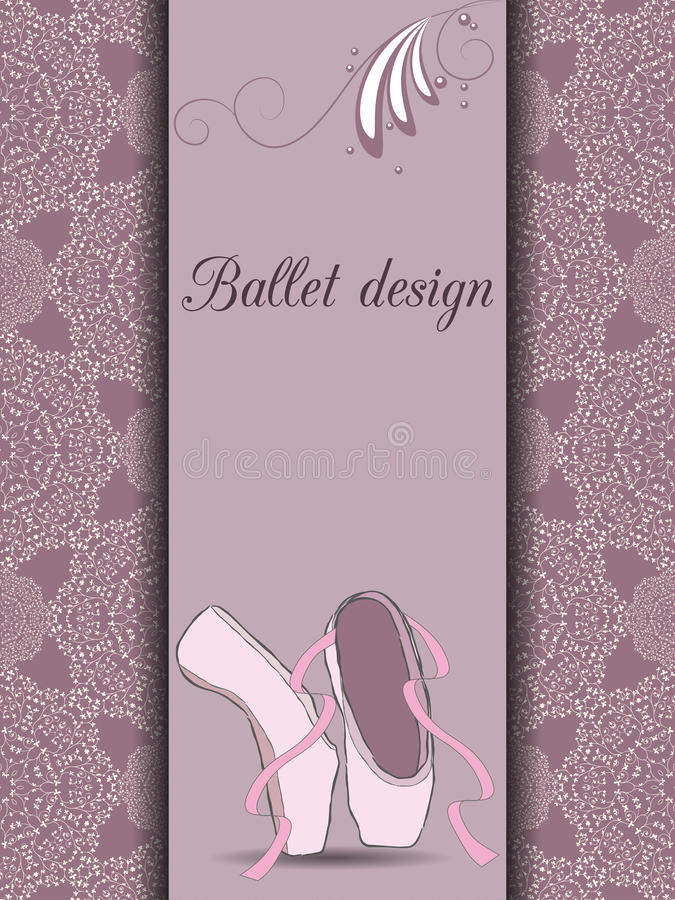 Download Карточка дизайна балета иллюстрация вектора. иллюстрации насчитывающей крышка - 41659254