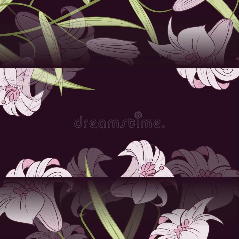 Download Карточка дизайна лилии иллюстрация вектора. иллюстрации насчитывающей элегантность - 41659984