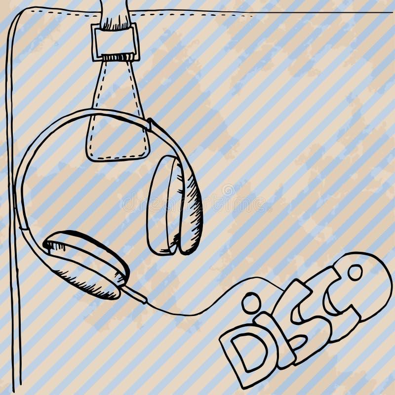 Download Карточка дизайна наушников ретро нарисованная рукой Иллюстрация вектора - иллюстрации насчитывающей нот, иллюстрация: 41661972