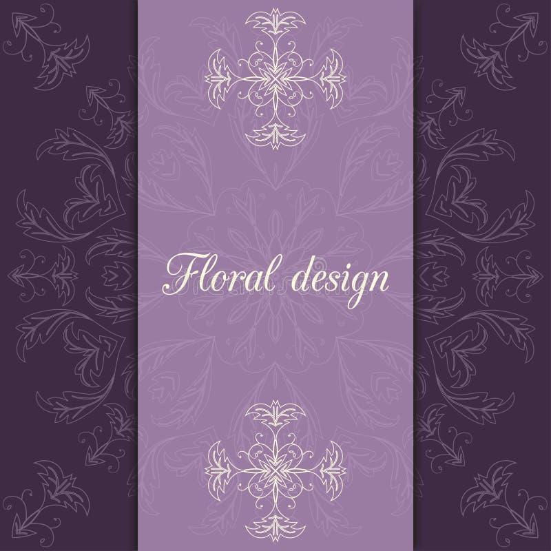 Download Карточка дизайна цветка иллюстрация вектора. иллюстрации насчитывающей шаблон - 41659642
