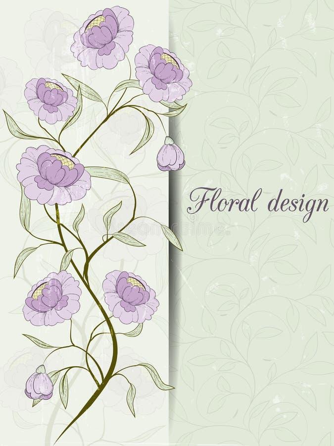 Download Карточка дизайна цветка иллюстрация вектора. иллюстрации насчитывающей приветствие - 41659727