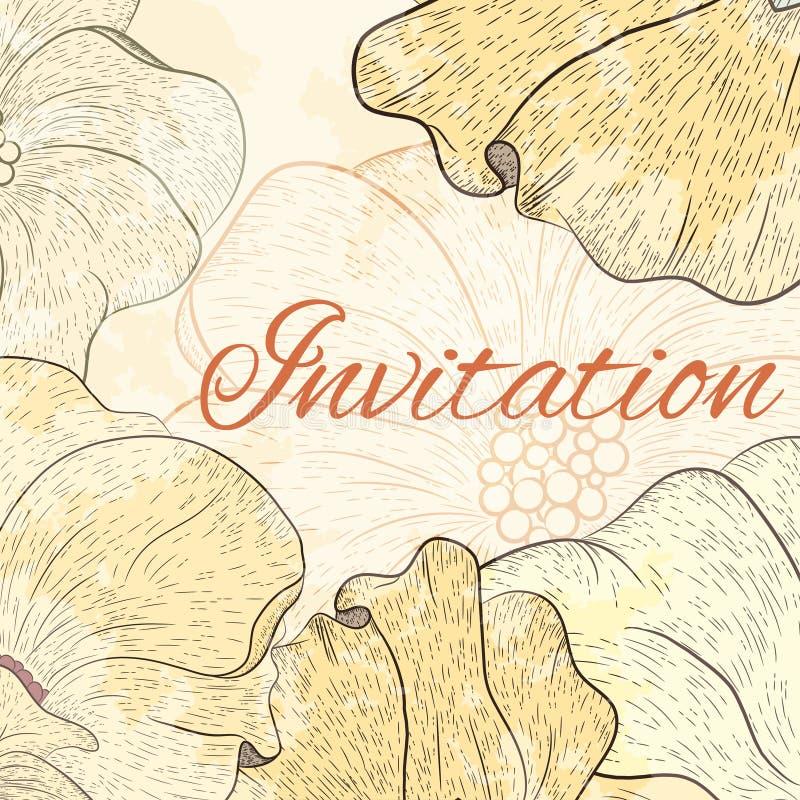 Download Карточка дизайна цветка иллюстрация вектора. иллюстрации насчитывающей иллюстрация - 41660417