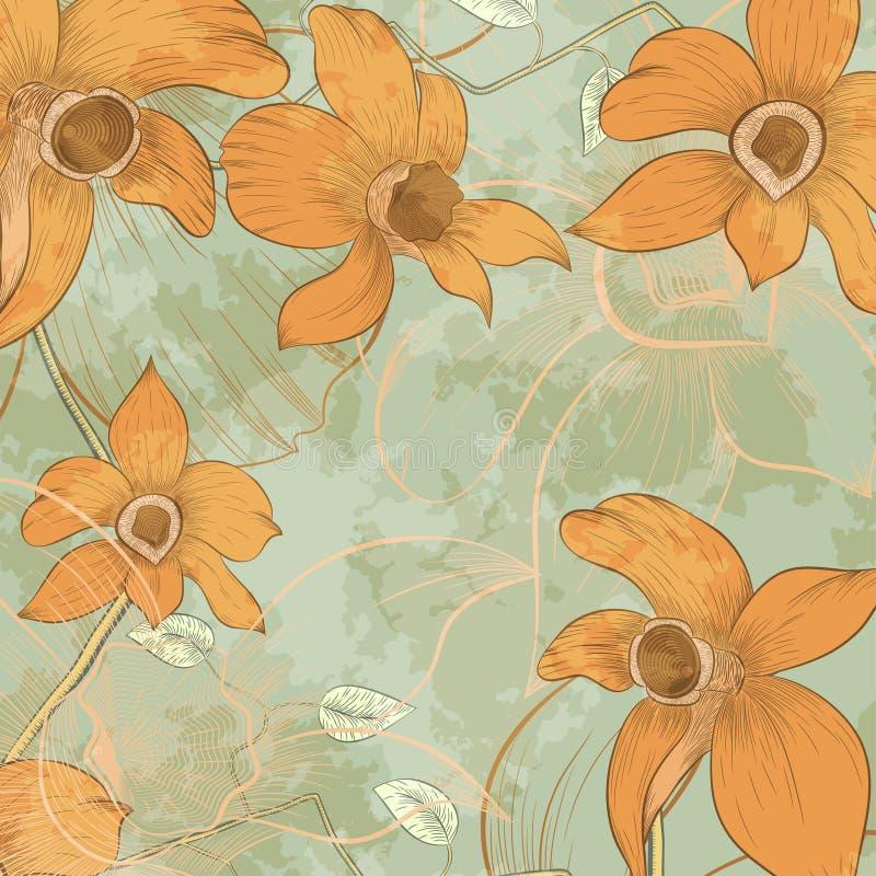 Download Карточка дизайна цветка иллюстрация вектора. иллюстрации насчитывающей венчание - 41660584
