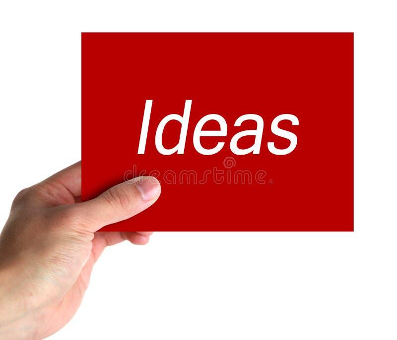 Карточка идей стоковая фотография rf