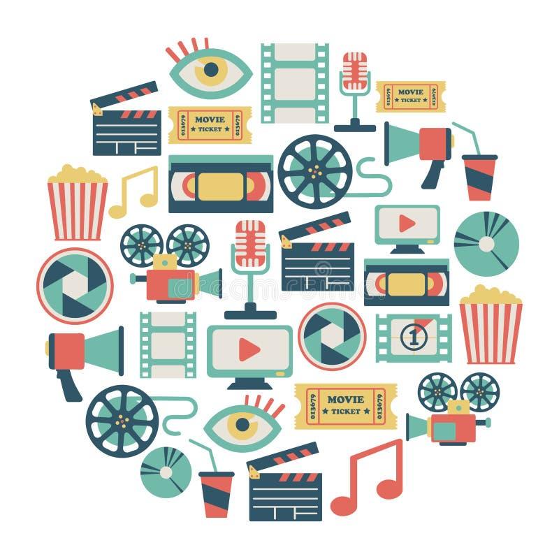 Карточка кино иллюстрация вектора
