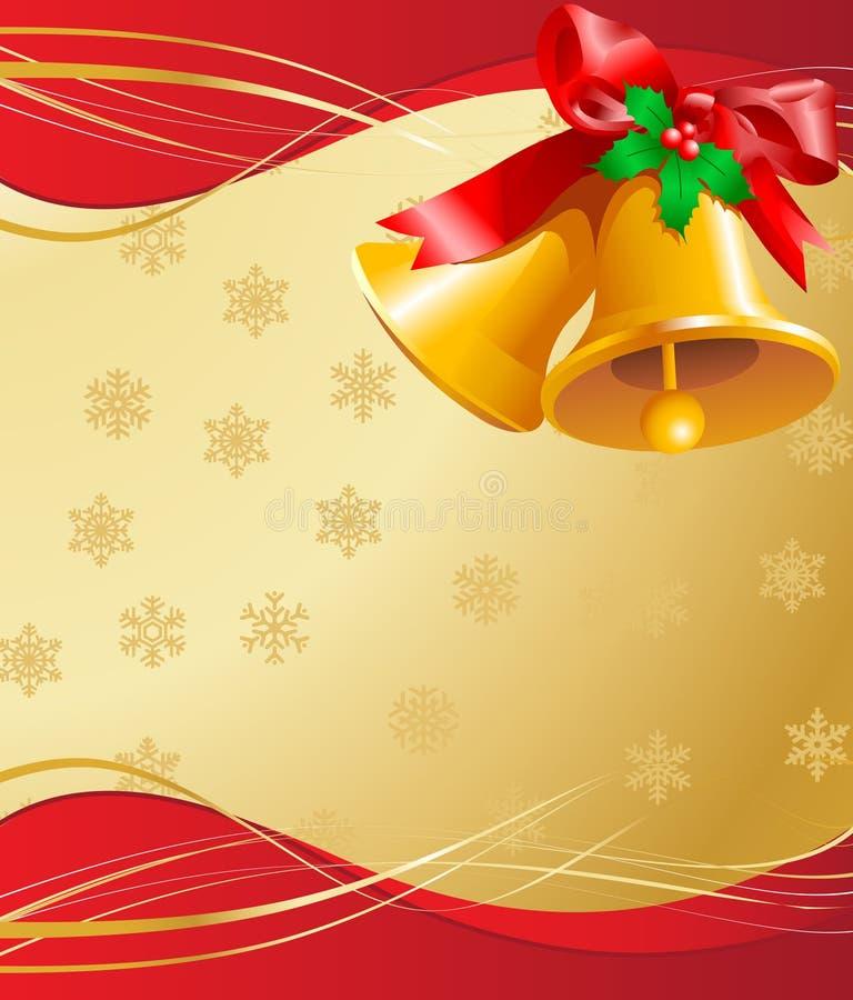 Карточка колоколов рождества иллюстрация штока