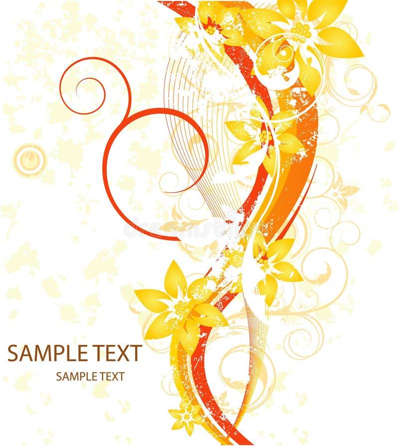 карточка красотки флористическая иллюстрация вектора