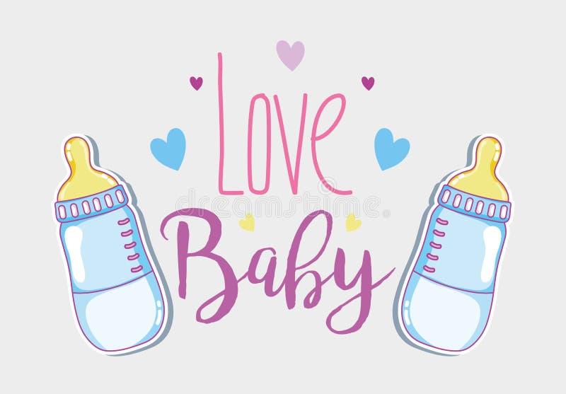 Карточка младенца влюбленности иллюстрация штока