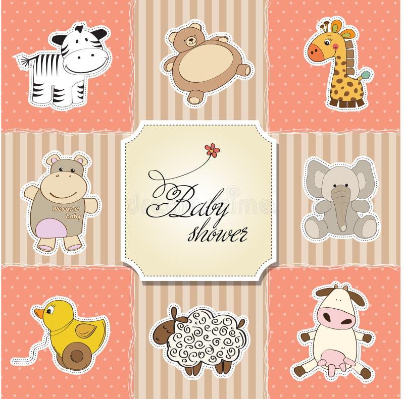 карточка младенца объявления новая иллюстрация штока