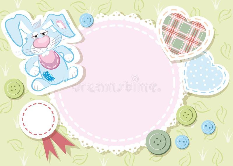 Карточка младенца иллюстрация вектора