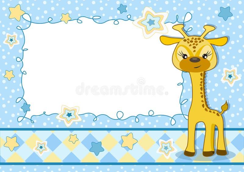карточка младенца милая иллюстрация вектора