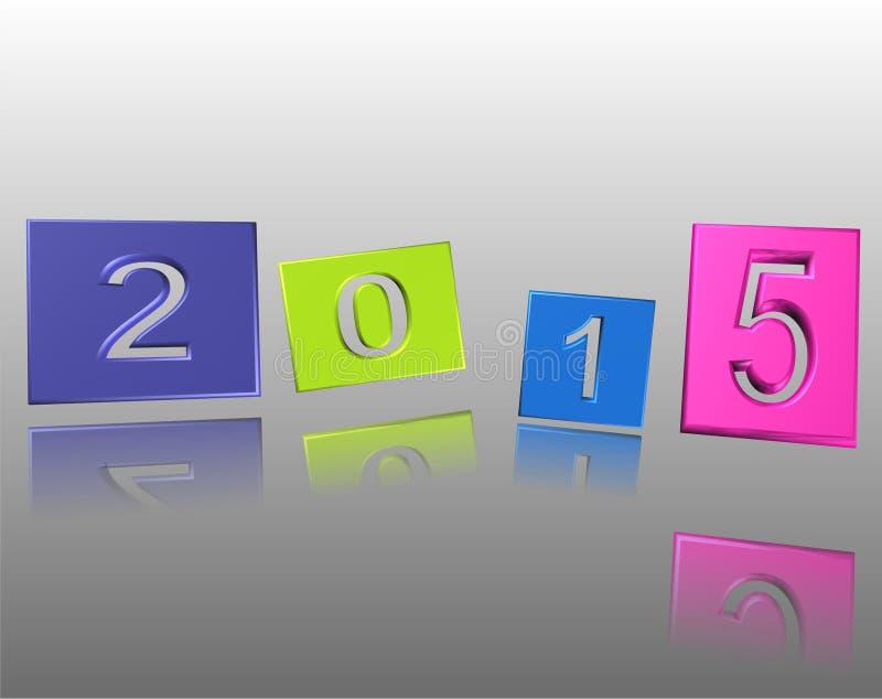 Карточка 2015 Новых Годов иллюстрация штока