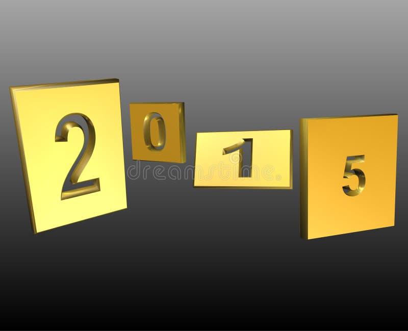 Карточка 2015 Новых Годов иллюстрация вектора
