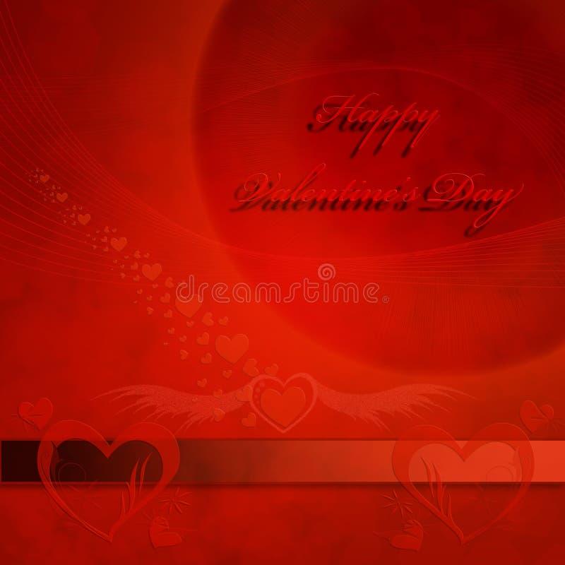 Карточка дня валентинки стоковое изображение