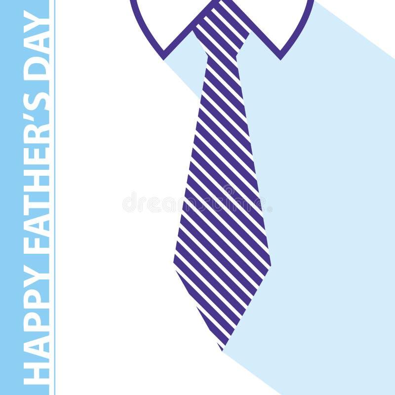 Карточка дня отцов иллюстрация штока