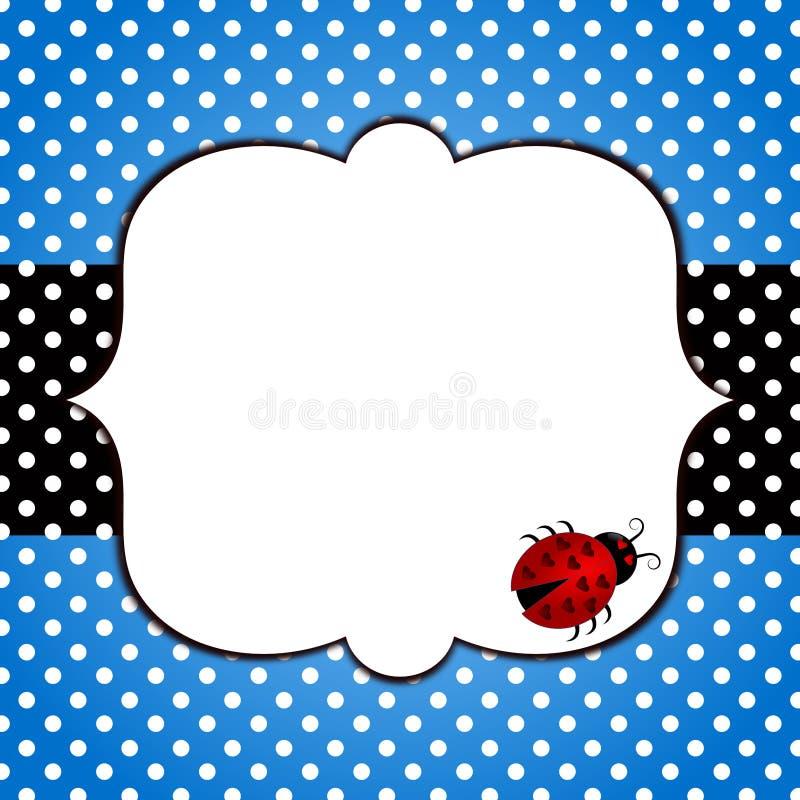 Карточка дня отцов Ladybug иллюстрация штока