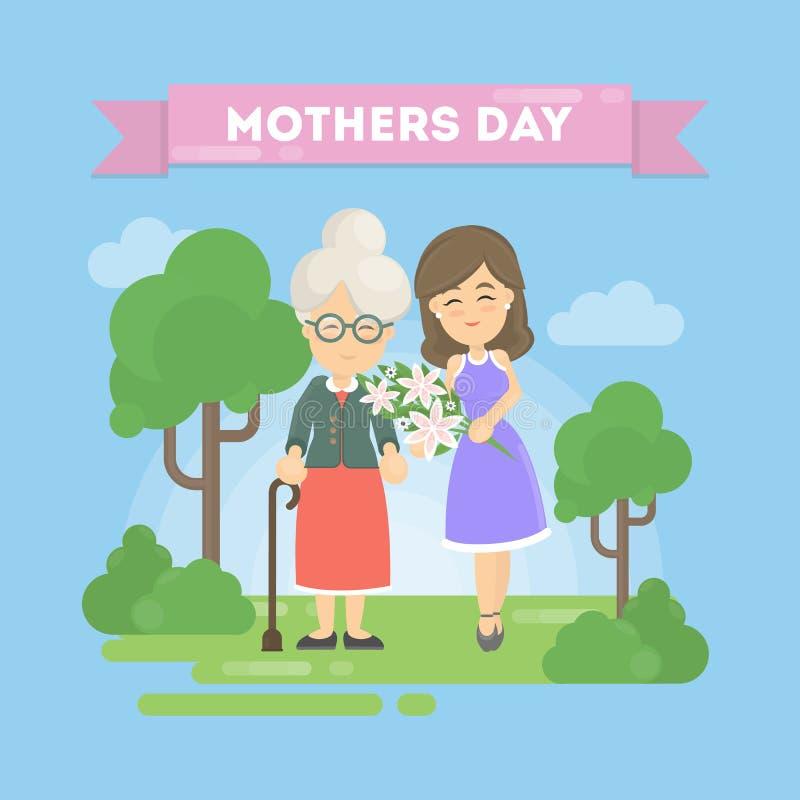 Карточка дня ` s матери бесплатная иллюстрация