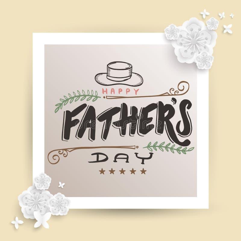 Карточка дня ` s отца бесплатная иллюстрация