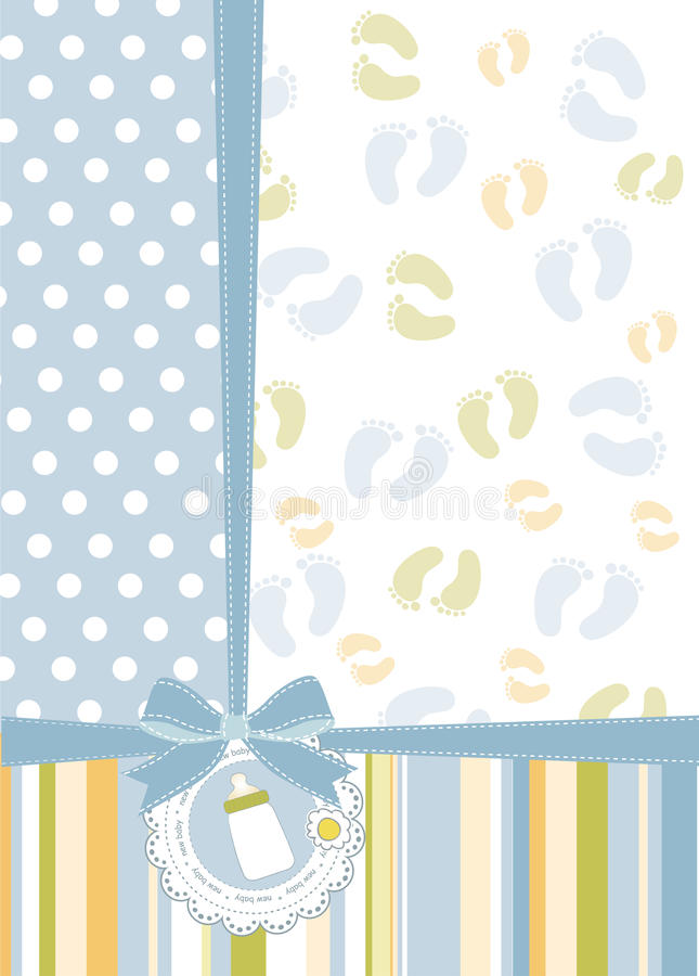 Карточка объявления ливня младенца бесплатная иллюстрация
