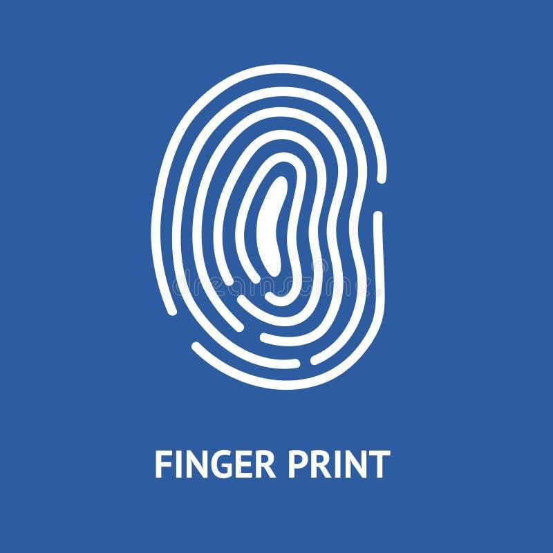 Карточка отпечатка пальцев вектор бесплатная иллюстрация