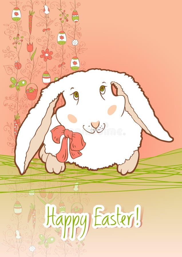 карточка пасха зайчика бесплатная иллюстрация