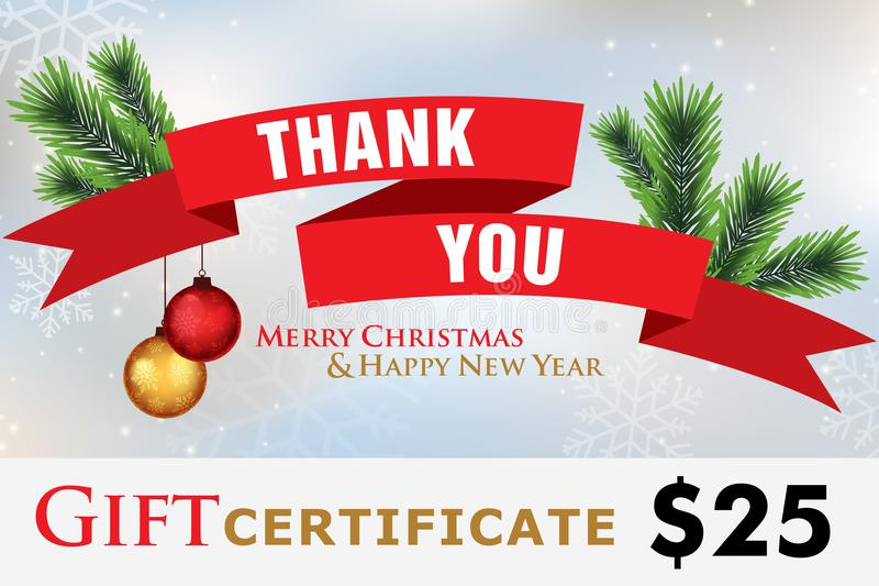 Карточка подарка, праздники подарочного сертификата счастливые иллюстрация штока