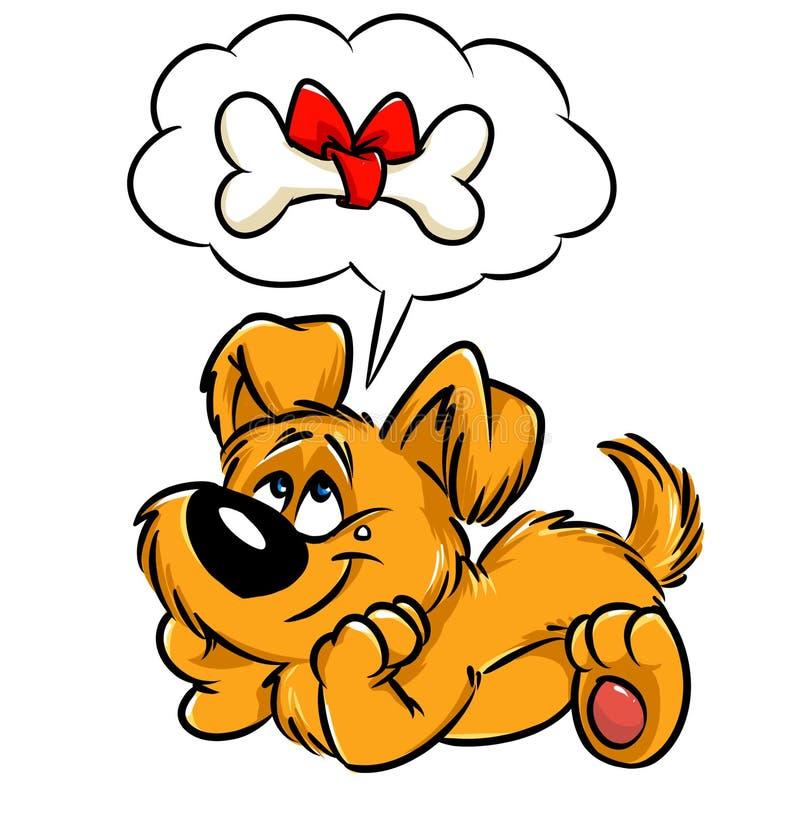 Карточка подарка собаки иллюстрация штока