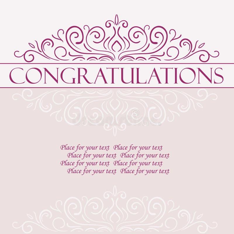 Карточка поздравлениям вектора винтажная бесплатная иллюстрация