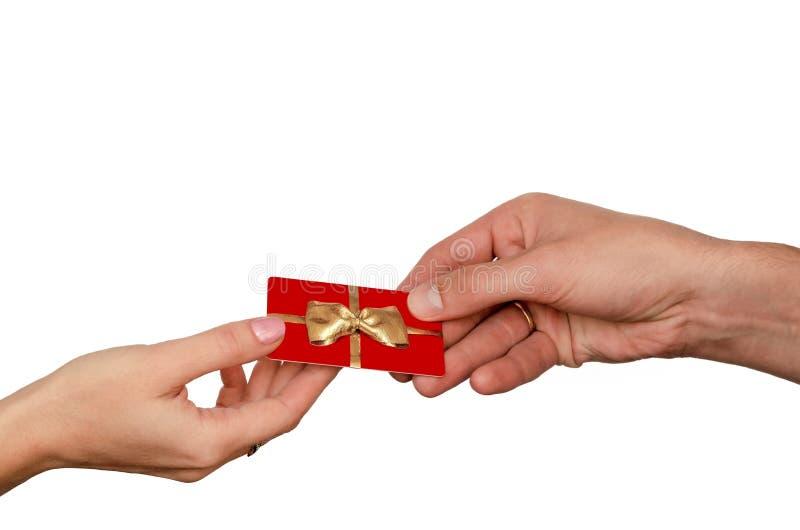 Карточка подарка концепции стоковые изображения rf