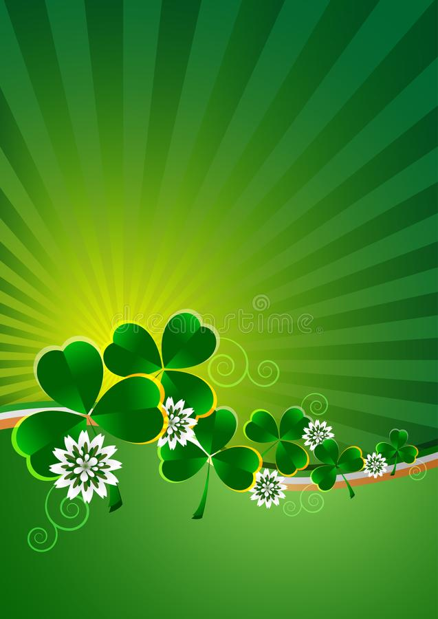 Карточка праздника на день ` s St. Patrick стоковое фото rf