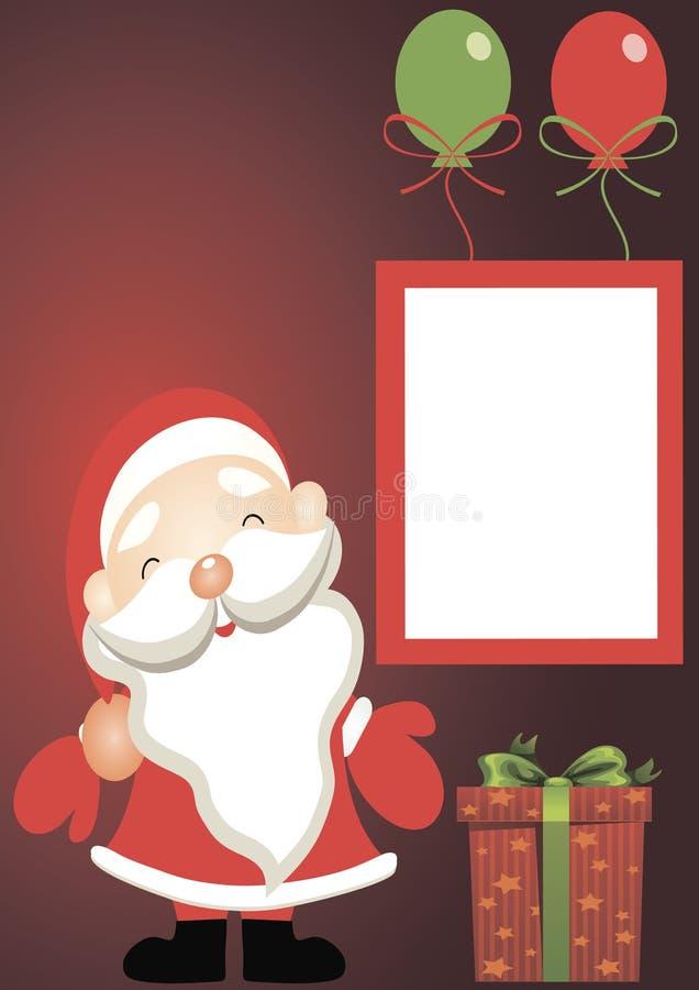 Карточка праздника - Санта Клаус с подарками стоковая фотография rf