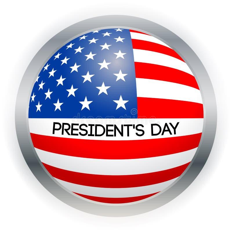 Карточка президентов Дня вектора Национальная американская иллюстрация праздника с флагом США на черной предпосылке иллюстрация штока