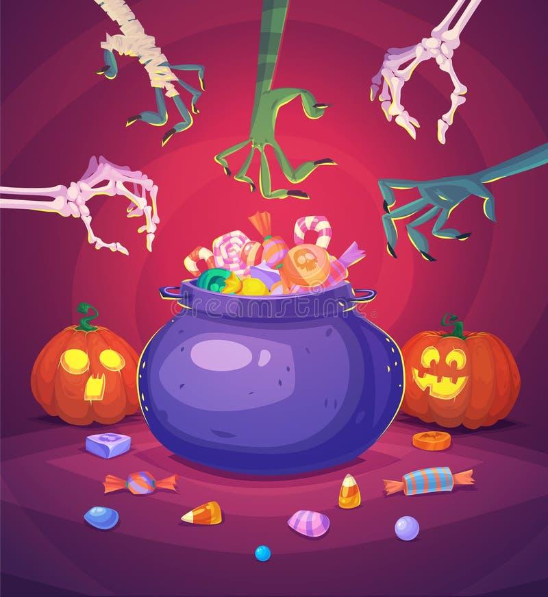 Карточка предпосылки плаката хеллоуина вектор бесплатная иллюстрация