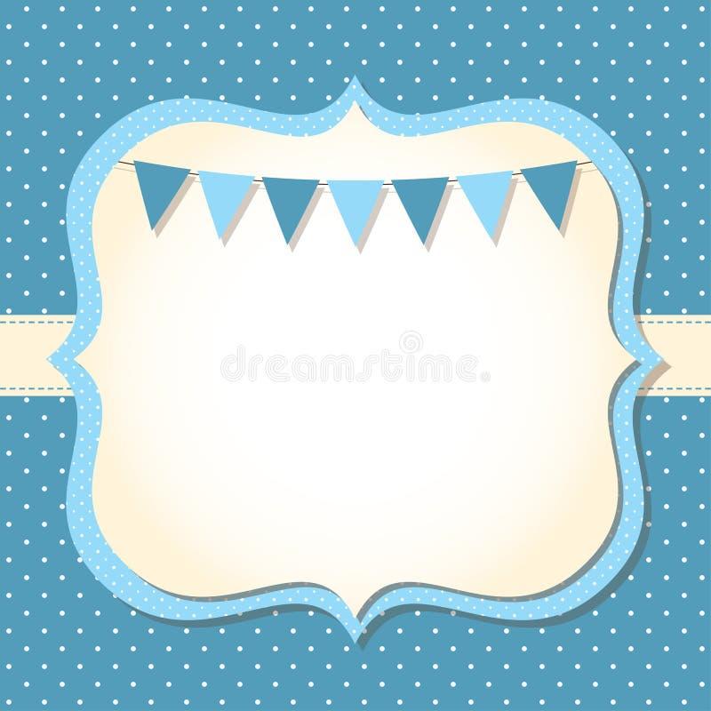 Карточка прибытия ребёнка иллюстрация вектора