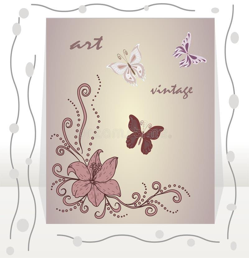 Карточка приглашения вектора абстрактная иллюстрация штока