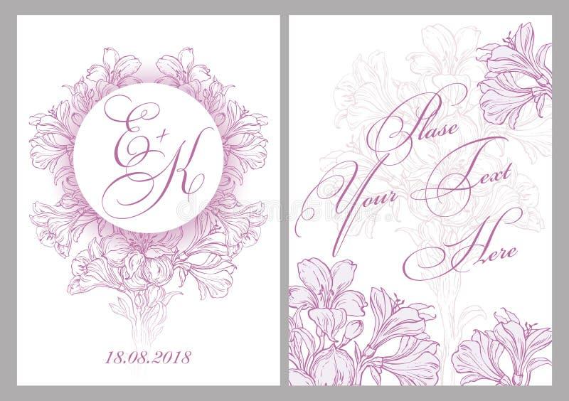 Карточка приглашения для венчания стоковые фото