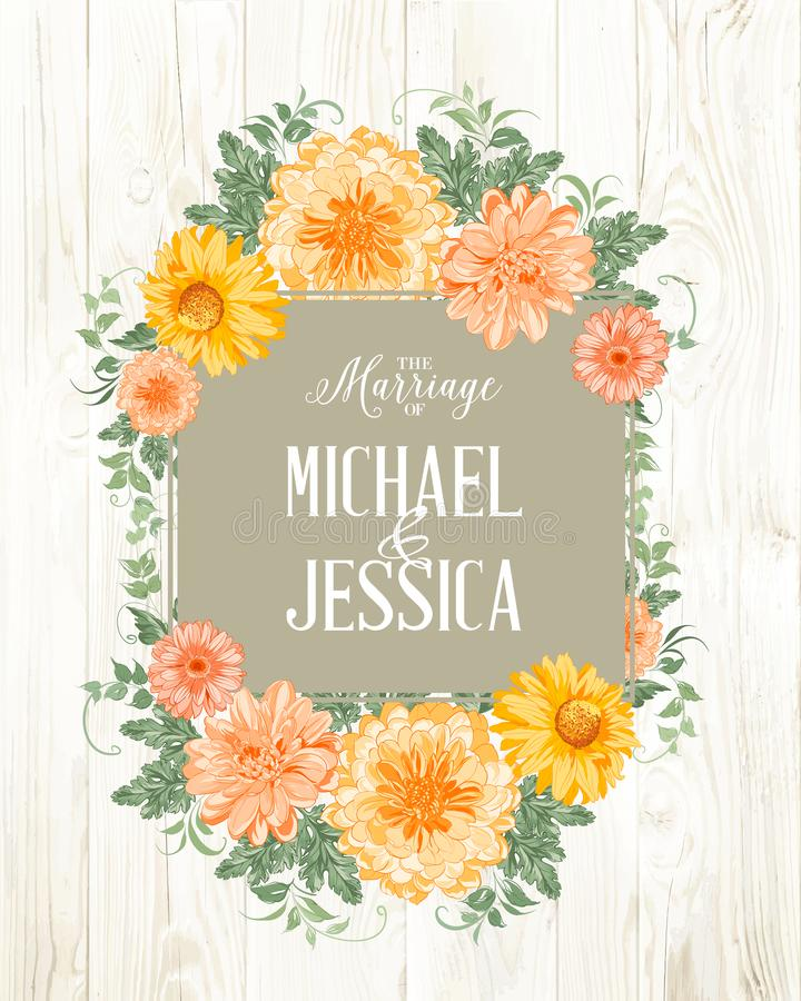 Карточка приглашения замужества бесплатная иллюстрация