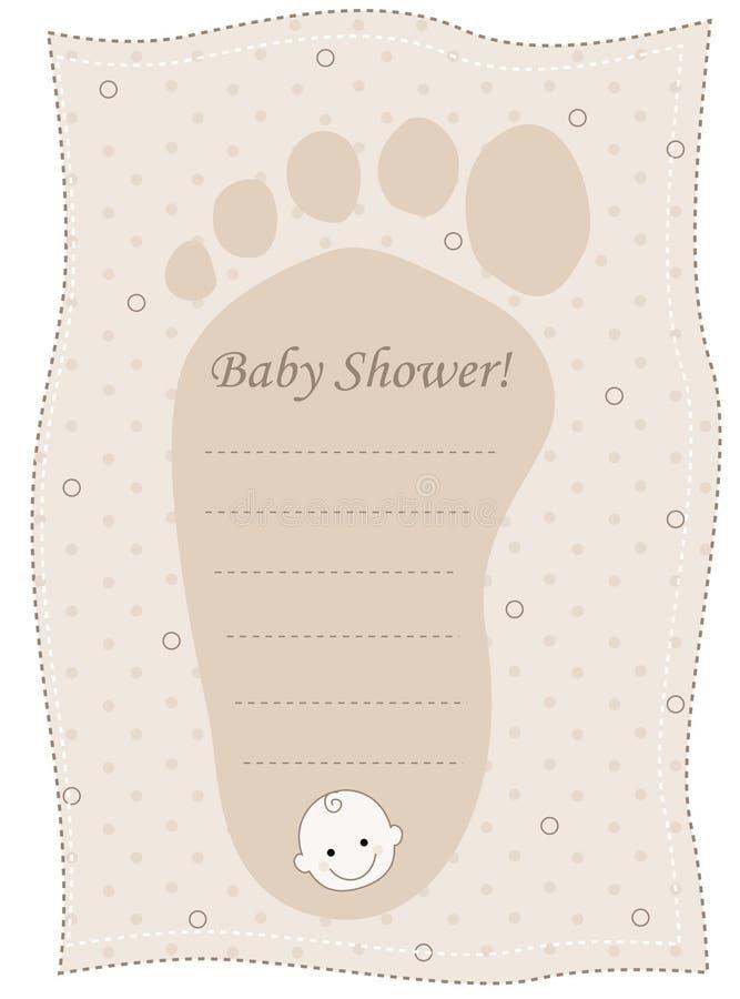 Карточка приглашения ливня младенца бесплатная иллюстрация
