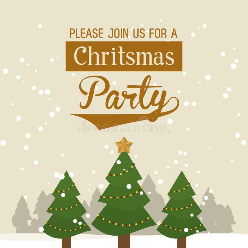 Карточка приглашения части рождества бесплатная иллюстрация
