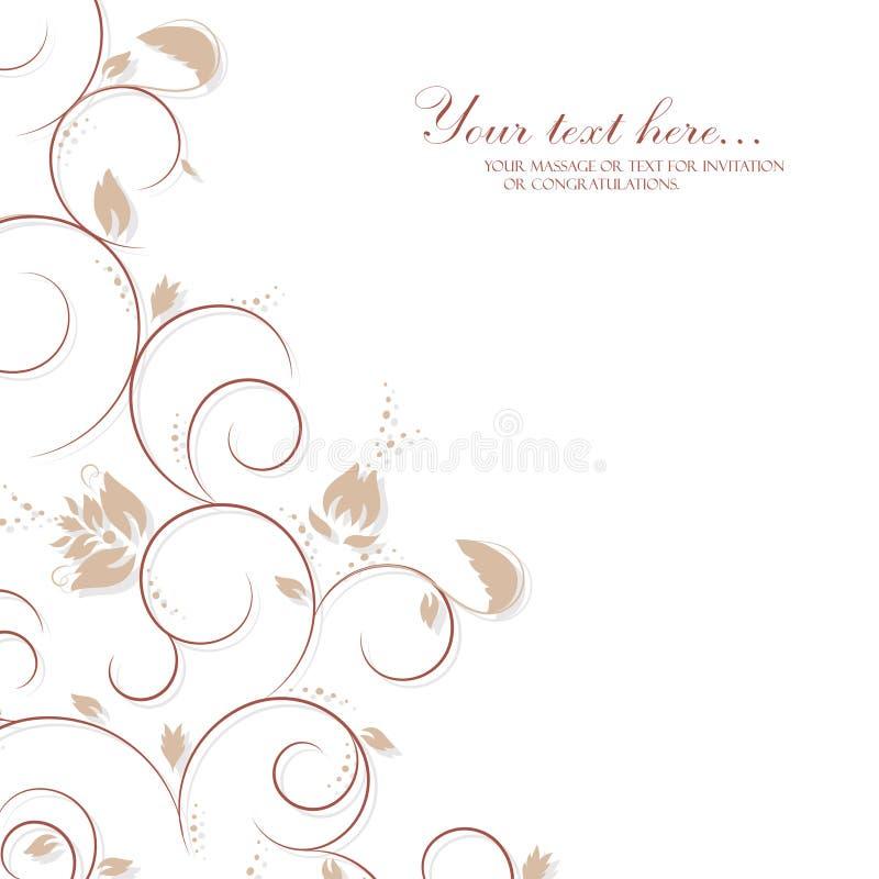 Карточка приглашения год сбора винограда с орнаментом шнурка бесплатная иллюстрация