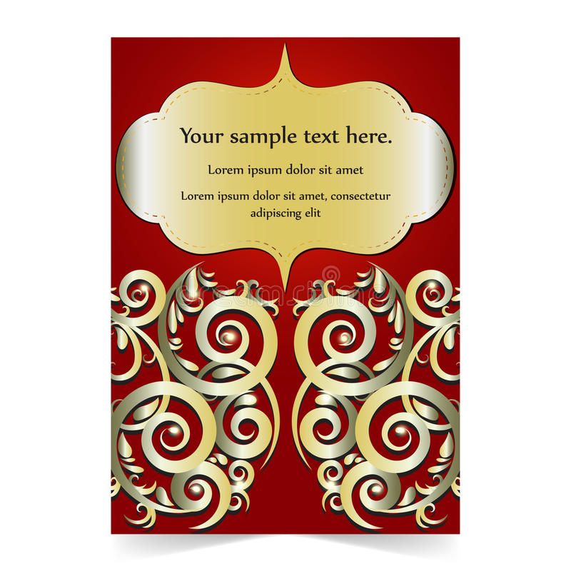 Download Карточка приглашения, карточка свадьбы с орнаментальной предпосылкой Иллюстрация вектора - иллюстрации насчитывающей валентайн, иллюстрация: 81813796